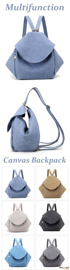 US$32.61+Free shipping. Canvas Backpack, Vintage Shoulder Bags, School Rucksack, Multifunction. Color: Black, Sky Blue, Khaki, Beige, Lake Blue, Gray.