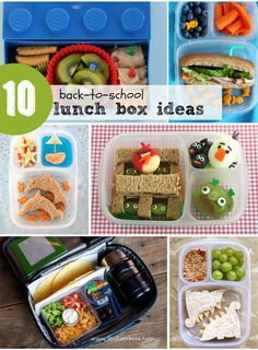 Lunch Box Ideas - love all these ideas. Great for summer too!