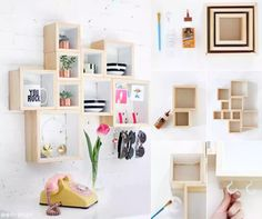22 Genius DIY Home Decor Projects You Will Fall in Love with! Wooden Box Crafts, Wooden Diy, Wooden Boxes, Doily Garland, Diy Home Decor Projects, Home Improvement Projects, Unique Home Decor, Cheap Home Decor, Diy Casa