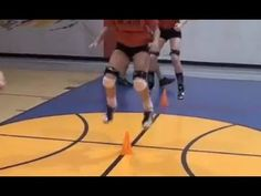 Every volleyball player needs to have about 5 yards in between her and her teammates so there is enough room. This volleyball drill can also be completed solo. The exercise jumping height durations should be about 15 to 18 seconds and then rest for 45 seconds to a minute in between jumping height sets. Complete 6 total sets with three front to back jumps and 3 side to side jumps.