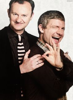 Gatiss and Freeman - LOVE this! (Didn't know where to put it. Landed in the pretty boys. Works for me.)