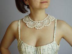 Colletto all'uncinetto crochet collar