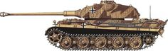 Click this image to show the full-size version. Tiger Ii, German Soldiers Ww2, Camouflage Patterns, Panzer, Armored Vehicles, World War I, Scale Models, Military Vehicles, Wwii