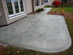 Tasteful, Subtle Faux Flagstone Look To Complement Your Home And Garden.