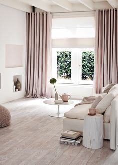 Soft Pink Creme Living Room