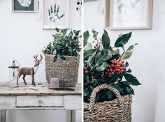 3 DIY de couronnes de Noël | Holidays Brindille, Winter Christmas, Wicker Baskets, Diy, Inspiration, Home Decor, Eucalyptus Wreath, Copper Color, Crowns