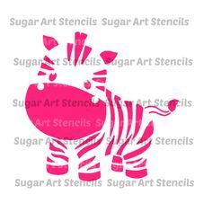 Stencil for cookie decorating Little Zebra kids designs,  cookie stencil !  NB2003