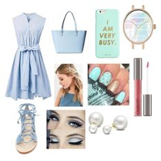 """blue"" by cocoblair25 on Polyvore featuring Chicwish, Cornetti, Kate Spade, ban.do, Urban Outfitters, Perricone MD and Allurez"