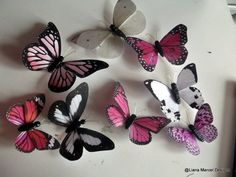 Making wall butterflies from paper