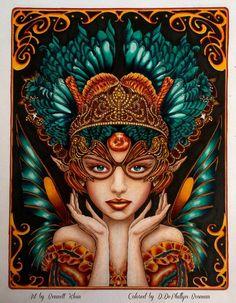 Coloring of Bennett Klein's Fairy by Jewelzs73.deviantart.com on @DeviantArt