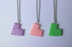 Hey, I found this really awesome Etsy listing at https://www.etsy.com/listing/232702041/glittery-pixel-heart-necklace