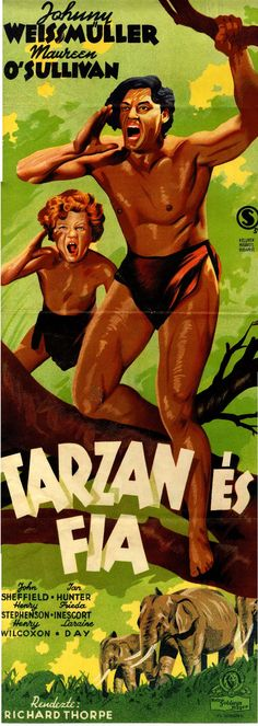 """Az 1939-ben bemutatott """"Tarzan és fia (Tarzan Finds a Son)"""" című filmben negyedszer alakította Johnny Weismüller a dzsungel királyát. http://hdl.handle.net/2437/119945"""