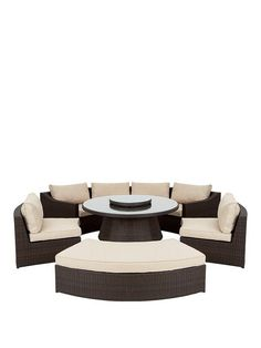 Genoa 6-Piece Dining Set with Round Table | littlewoodsireland.ie €1559