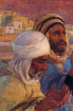 Men In Prayer by Etienne Dinet Art And Illustration, Art Arabe, Chalk Pastel Art, Human Anatomy Drawing, Arabian Art, Political Art, Turkish Art, Vintage Artwork, Egyptian Art