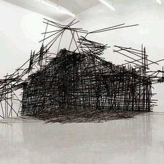 Monika Grzymala's Three-Dimensional Spatial Drawing.