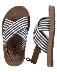 OshKosh Striped Sandals from Carters.com. Shop clothing & accessories from a trusted name in kids, toddlers, and baby clothes.