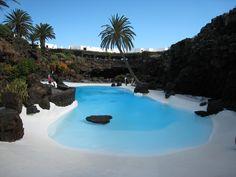 Piscina en Jameos del Agua. Lanzarote