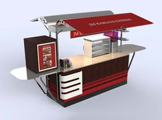 Choose your ultimate food cart, catering anywhere from a Confectionery stand, to Hot Dog, BBQ Carts Food Stall Design, Food Cart Design, Food Truck Design, Kiosk Design, Cafe Design, Mobile Food Cart, Car Food, Food Kiosk, Best Food Trucks