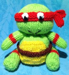 Teenage Ninja Turtle Choc Orange Cover / Toy Knitting pattern by Andrew Lucas