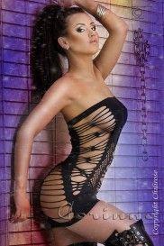 saxana_Čierne šaty CR-3147