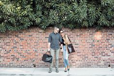 Stylish Couple: A stylish bag for my husband to carry when we go on trips.
