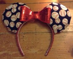 Anaheim Angels Baseball Mickey Ears by BlackHeartBows on Etsy
