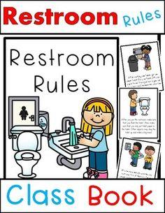 School Bathroom Rules free bathroom visuals! | kinderland collaborative | pinterest