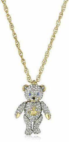 Vivienne Westwood Crystal Teddy Pendant Necklace Vivienne Westwood. $165.99. pendant with teddy bears. Crystals. Crystals Made in CN. Made in China. Save 50%!