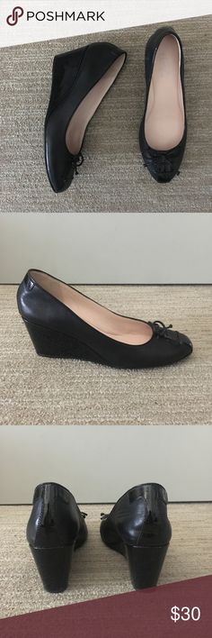 Taryn Rose Karson wedge Taryn Rose slip-on wedge with bow lace up and patent leather detail.  Size 8 2.5 inch wedge Like new no marks Great for work Taryn Rose Shoes Wedges