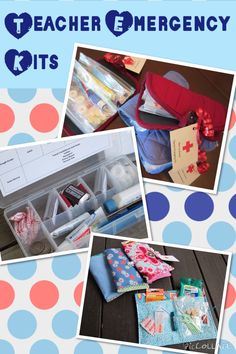 Different ways to put together a #BTS teacher emergency kit.
