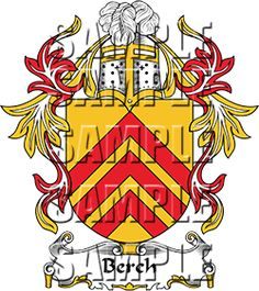 Berch Family Crest apparel, Berch Coat of Arms gifts