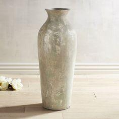 Whitewash Large Floor Vase I Really Like This Gift