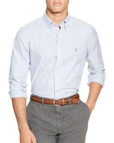 POLO RALPH LAUREN Striped Oxford Classic Fit Button Down Shirt. #poloralphlauren #cloth #shirt