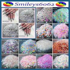 FESTIVAL ROCKSTAR GLAMTASTIC NAIL ART GLITTER CHUNKY FINE MIXES NEON  5g PACK  | eBay