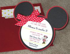 Minnie Mouse Invitation by PapercutInvites on Etsy, $5.00