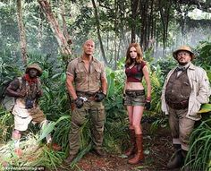 All new: A first photo of the Jumanji cast - Dwayne 'The Rock' Johnson, Kevin…