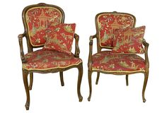 Antique French Chinoiserie Chairs, S/2 on OneKingsLane.com