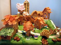 Gingerbread Fairy Village My entry for this year's local gingerbread event. Houses, bridge, gazebo, lamp bases, and rocks are...