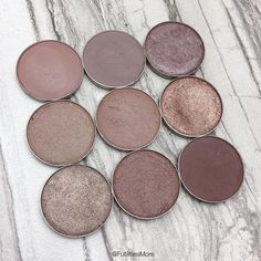 Makeup Geek Taupe eyeshadows pictures and swatches