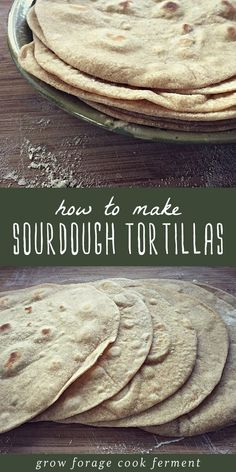 If you have sourdough starter you should make sourdough tortillas! These homemade flour tortillas are free from hydrogenated oils, full of healthy probiotics, and they taste awesome! Sourdough Starter Discard Recipe, Sourdough Recipes, Sourdough Bread, Bread Recipes, Starter Recipes, Sourdough Tortillas Recipe, Sourdough Cinnamon Rolls, Sourdough Pancakes, Mexican Food Recipes