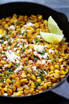 Skillet Chili Lime Corn - the best corn with chili, honey, lime and ...