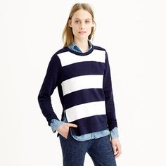 #Jcrew painted stripe sweatshirt http://bit.ly/1yYl4dc