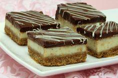 ריבועי עוגת גבינה ושוקולד מריר