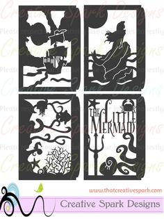 Little Mermaid Lantern DIY Project SVG digital download for