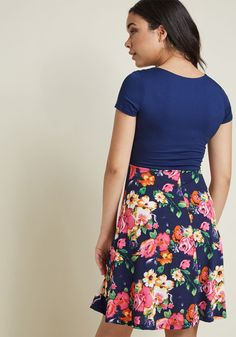Botanical Breakfast Floral Dress in Navy Blossoms   ModCloth