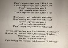 If you're angry and you know it. Song for teaching anger management skills for young children