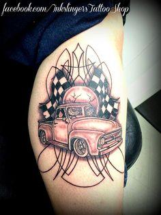 hot rod tattoo pin stripes racing tattoo billyinkslinger