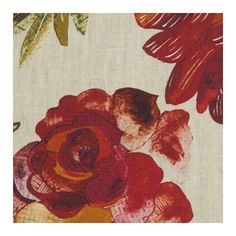 Jeffery Rose Tree Linen Fabric ($110) ❤ liked on Polyvore featuring home, home improvement and fabric