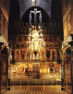 Holy Trinity Cathedral's iconostasis painted by Andrei Rublev, Daniil Cherny and…