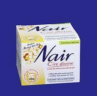 Cire Nair - Spécial épilation - Un parfum des îles pour cette cire à base de résine naturelle de pin, qui promet une épilation longue durée (jusqu'à 4 semaines). Un pot permet une épilation complète des demi jambes, aisselles et maillot...